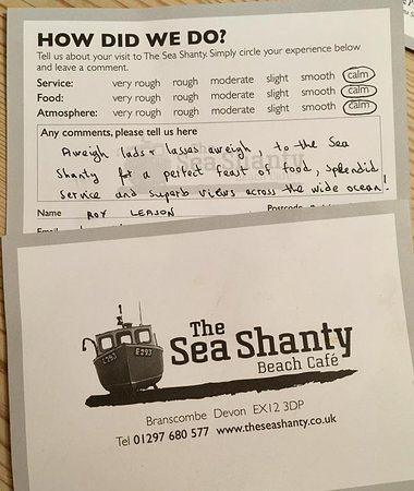 Branscombe, UK: Always lovely to hear from happy punters!