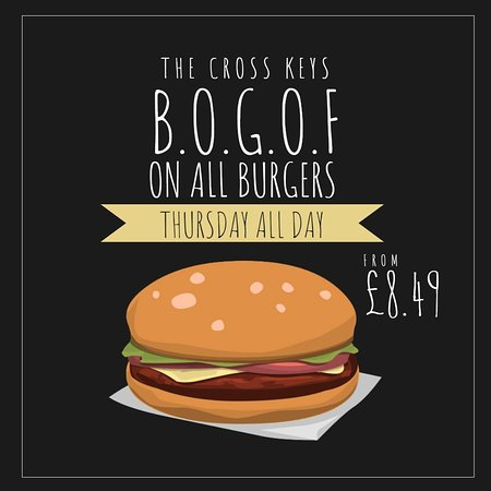 Cottingham, UK: Buy One Get One Free on all burgers, every Thursday