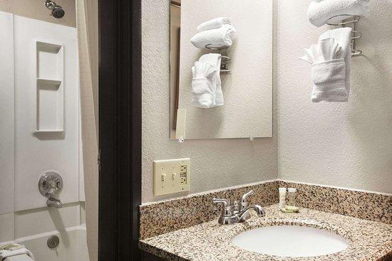 Super 8 by Wyndham Bozeman : Bathroom