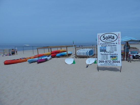 North Beach Rental Stand in South Haven - Picture of Soha