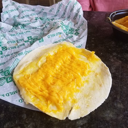 Taco Casa: Chicken soft taco cheese only..no apology made.