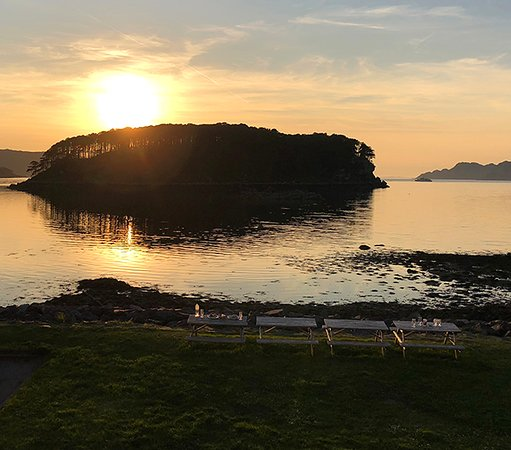 Shieldaig, UK: Our view while having drinks!