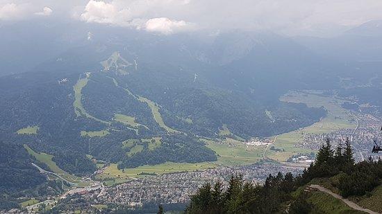 Wank Mountain: Blick von oben