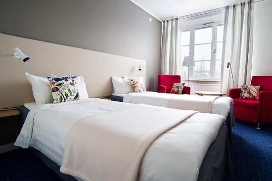Strangnas, Sweden: Two Twin Bed Guest Room