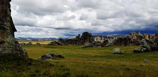 Cerro de Pasco, Perù: Paisaje de otro mundo en el bosque de piedras
