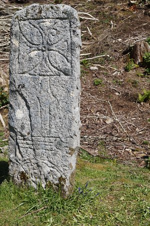 Isle of Raasay, UK: Pictish stone.