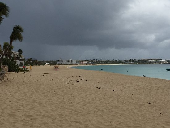 Long Bay Village, Anguilla: storm coming in over beach