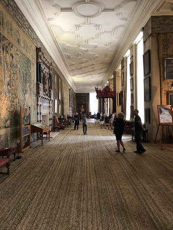 The Great Hall At Hardwick Hall With Incredible Paintings A Hall