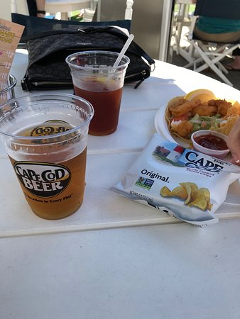 Black Cat Harbor Shack: Cape Cod beer and Cape Cod Chips should be at all Cape Cod Restaurants !