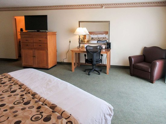 Quality Inn & Suites: Guest room with king bed(s)