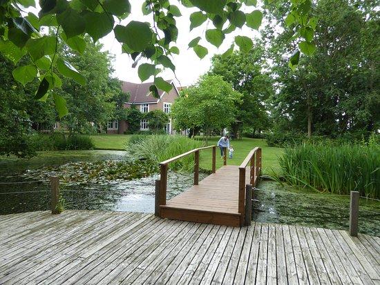 Great Baddow, UK: Lake and decking