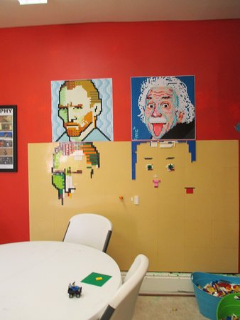 Bellefonte Art Museum: Lego portraits of Vincent van Gogh and Albert Einstein