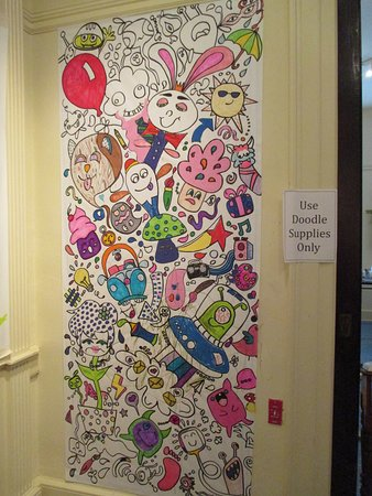Bellefonte Art Museum: One of the Doodling Walls
