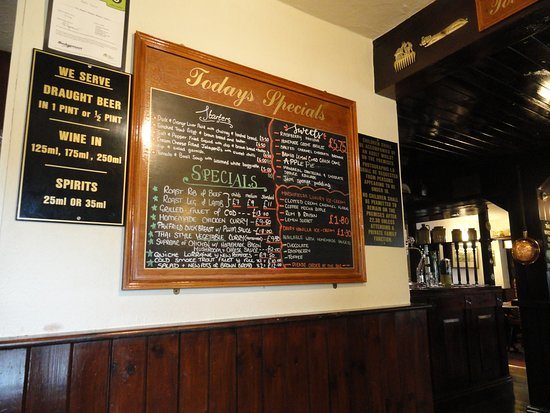 Brent Knoll, UK: Specials board