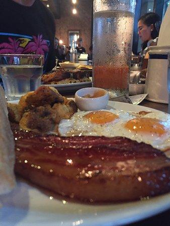 Wildflour Cafe + Bakery: Wildflour Breakfast with the optional Bacon Steak