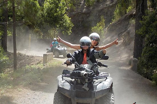 Safari in foresta su un quad