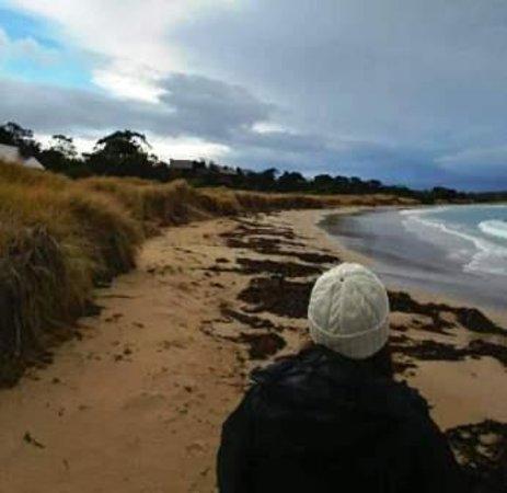 Swansea, Australia: Walking along the sands