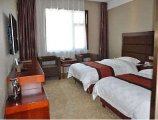 Hezuo, China: Two Twin Bed Guest Room