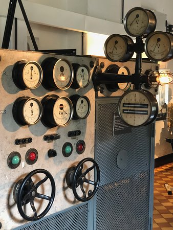 Ziegenruck, Germany: Schaltschrank mit Voltmeter und Armaturen