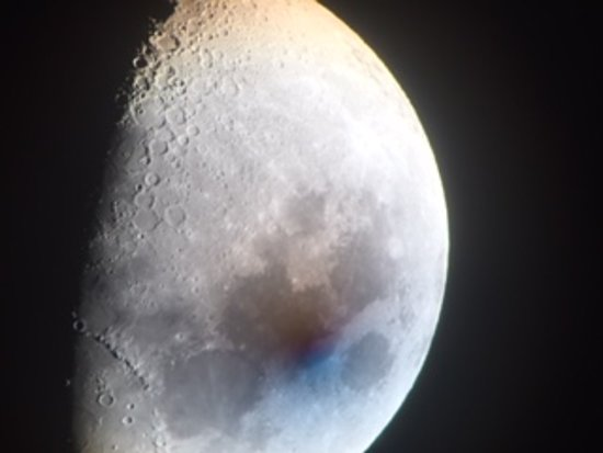 Dalmellington, UK: The Moon taken on a mobile phone through the main telescope
