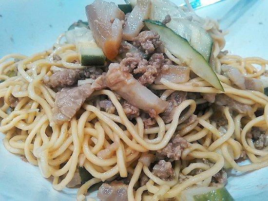 Spicy pork noodles - Picture of Twapakto, Quezon City