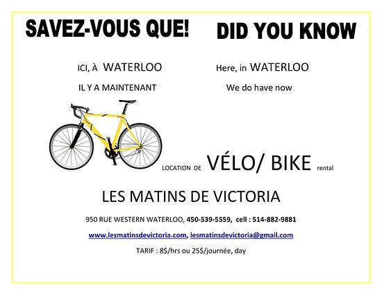 Waterloo, Kanada: Location de Vélos, Bike Rental