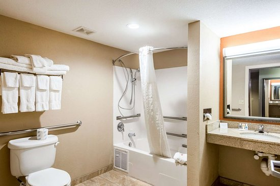 Comfort Suites Panama City Beach : Accessible guest bathroom