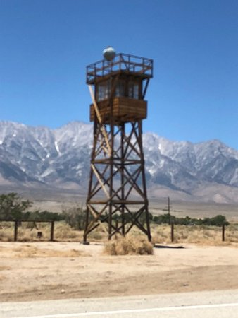 Independence, Kalifornia: Guard tower at the camp site