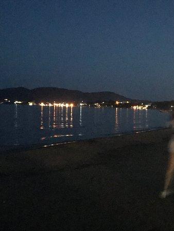 Laganas Beach Night Lights Along The At