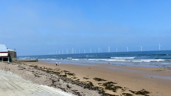 Redcar Beach: View of Wind Turbines
