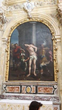 Buccheri, Italia: Et af de mange smukke malerier der fortæller om Jesus lidelser.