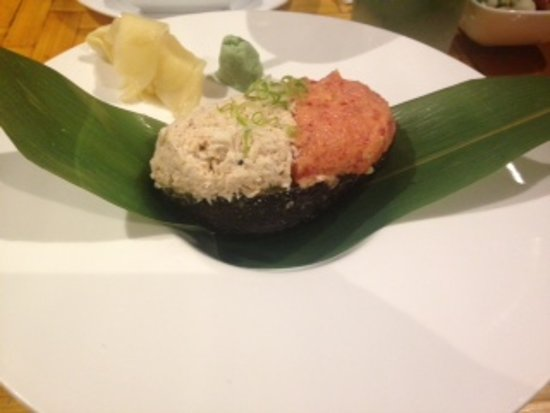 Owings Mills, Maryland: Avocado filled with crab & tuna