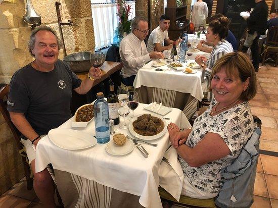 Gandarias Jatetxea: us at lunch