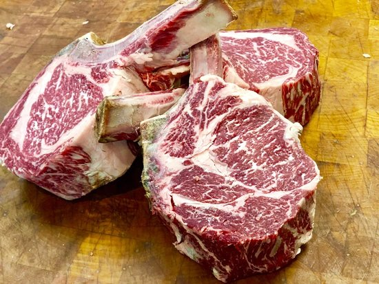 Fort Lee, NJ: Can't wait to eat our prime steak! Dry aged rib eye!!