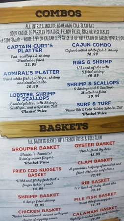 Captain Curt's Crab & Oyster Bar: Menu 2 of 8 - 2018
