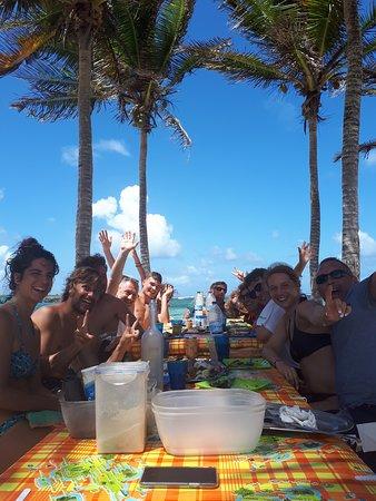 Tarzan Excursion Guadeloupe: L'heure du dejeuner
