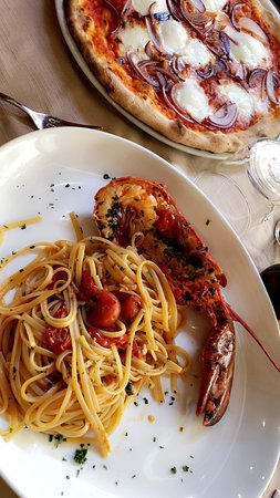 Ivan & Frank: Lobster linguini and pizza on or first time visit as a couple