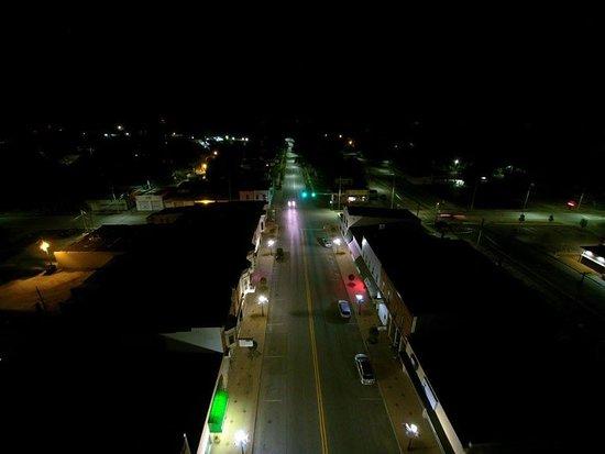 Downtown Walkerton 600 Block at night (Photo By Joel Steven)