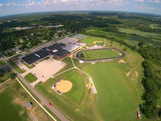 Over Georgia St. at the John Glenn High School/ Scarborough Park area of Walkerton (photo by Joe