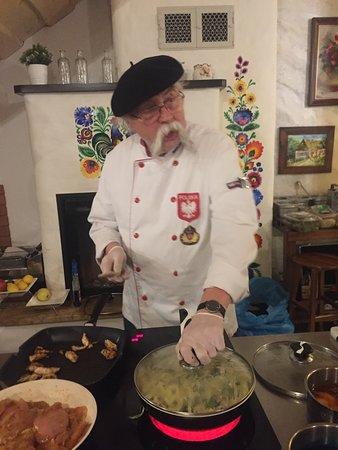 Makowiec, โปแลนด์: Live cooking by Kurt Scheller