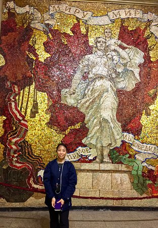 St. Petersburg Shore Excursion: Small-Group 2-Day Visa-Free Tour Including Boat Ride: A mosaic inside Admiralteyskaya Metro Station
