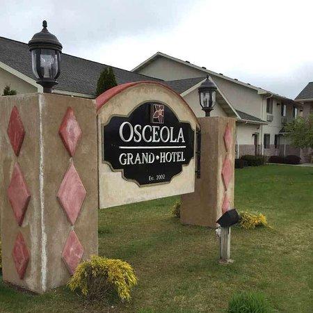 Evart, MI: Osceola Grand Hotel Sign