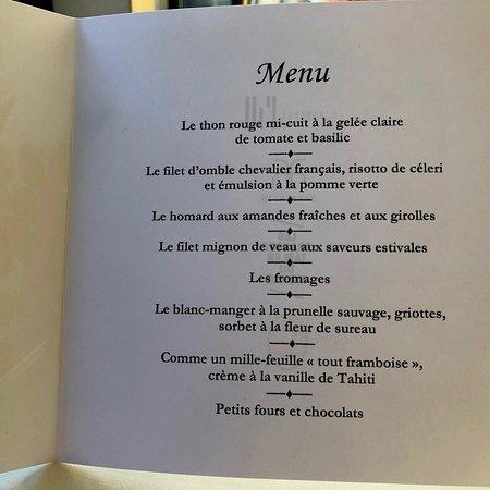 Menükarte in deutsch und französisch - Picture of L\'Auberge de l\'Ill ...