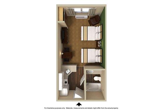 Norton, Массачусетс: Studio Suite - 2 Full Beds