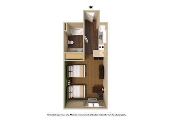 Extended Stay America - Orlando - Southpark - Equity Row: Studio Suite - 2 Queen Beds