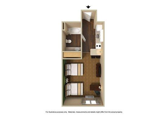Vernon Hills, IL: Studio Suite - 2 Queen Beds