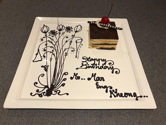 La Vela Khao Lak: Special birthday cake from the hotel