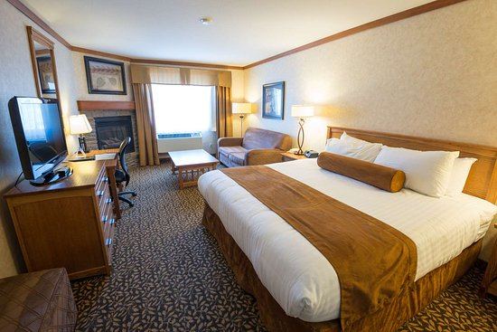 Best Western Plus Fernie Mountain Lodge: Deluxe King with Fireplace