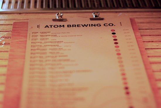 Atom Brewing Co: Menu