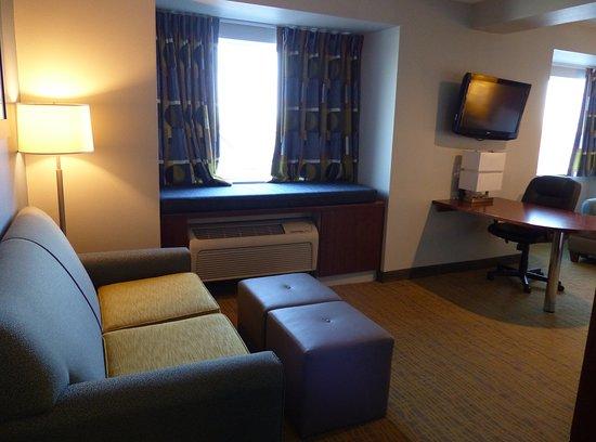 Quality Inn & Suites: King suite -- Quality Inn and Suites, Staunton, VA
